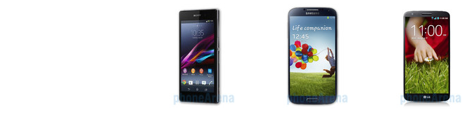 "Sony Xperia Z1 vs Samsung Galaxy S4 vs LG G2 specs comparison: 5"" cage match"