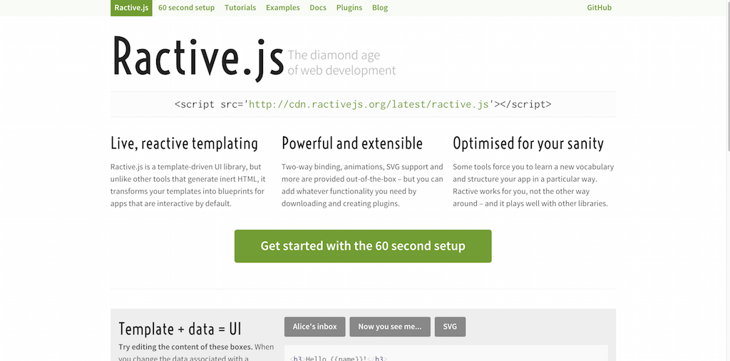Ractive.js The diamond age of web development