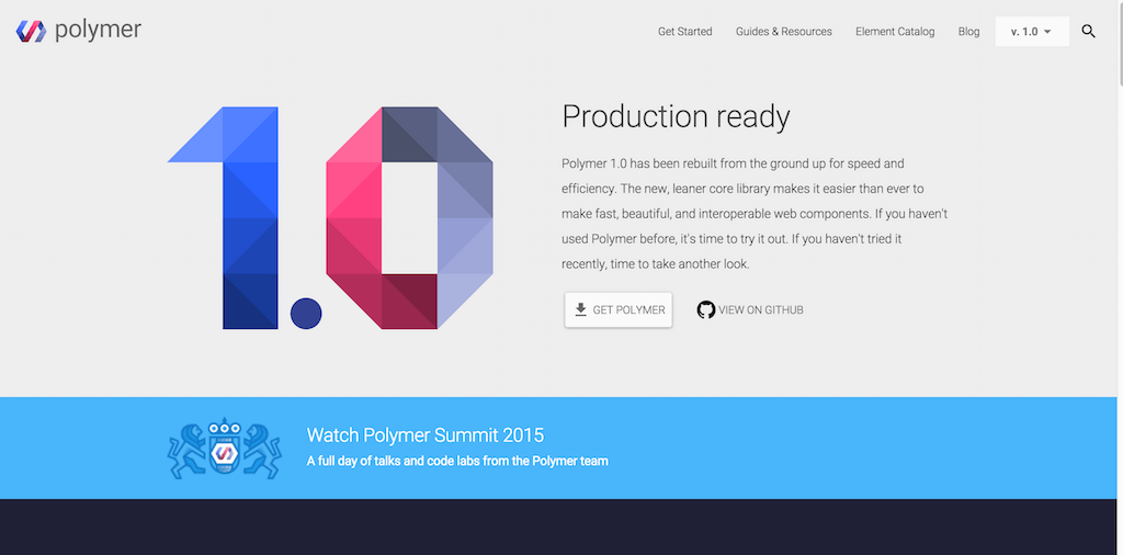 Welcome Polymer 1.0